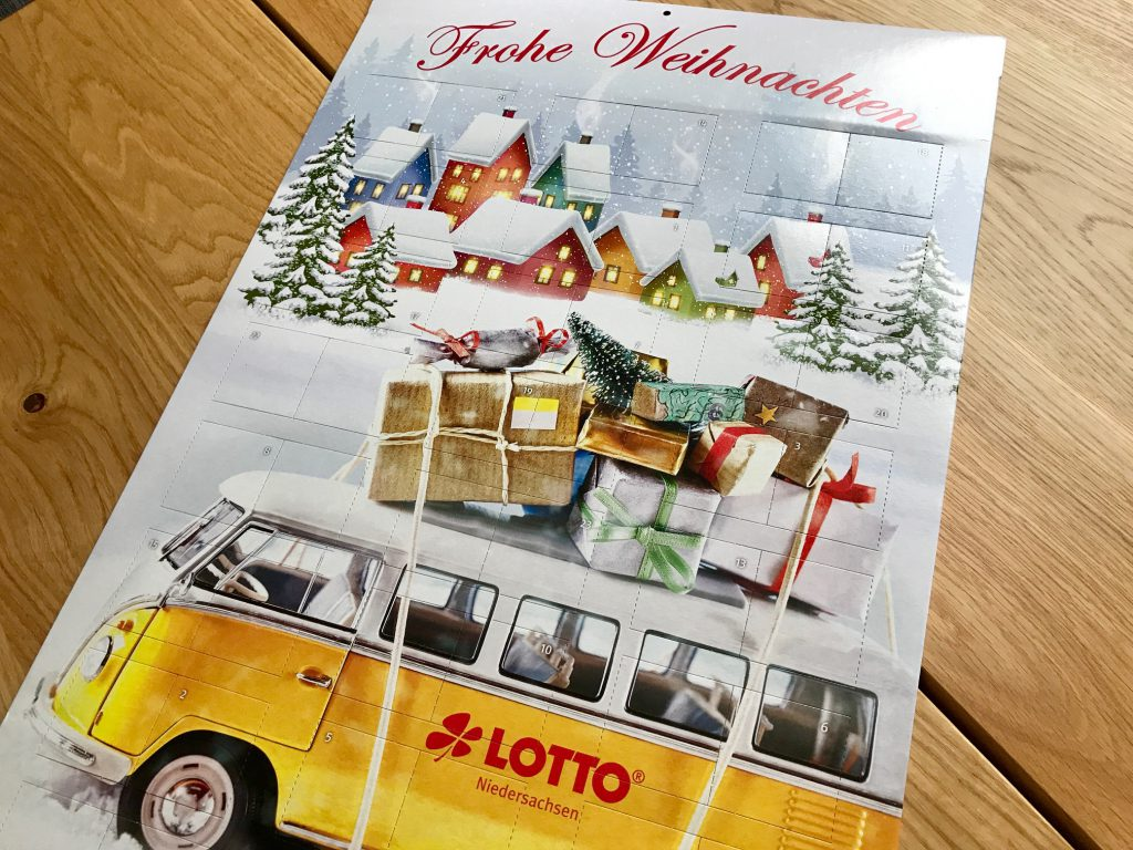 Rubbellos Adventskalender Lotto